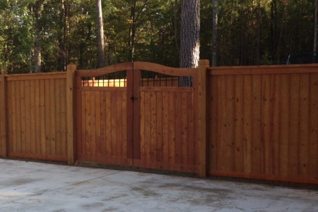 Cleaning and Staining A Wooden Gate